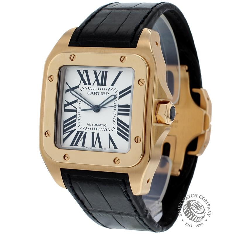 Cartier Santos 100 18ct Rose Gold