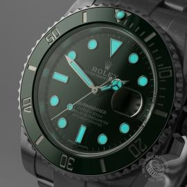 RO21645S Rolex Submariner Date Ceramic 'Hulk' 116610LV Close1