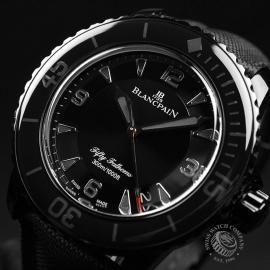 BL19823S Blancpain Black Knight Fifty Fathoms Automatic Close2