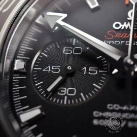OM20307S Omega Seamaster Planet Ocean 600m Co Axial Chrono Close8
