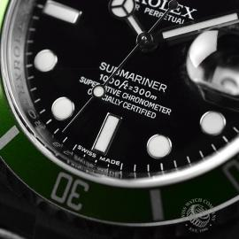 RO20926S Rolex Submariner Date Green Bezel Anniversary Close5