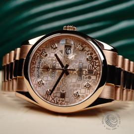 RO22196S Rolex Day-Date 36 Everose Close2