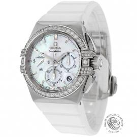 Omega Ladies Constellation Double Eagle Co Axial Chronograph