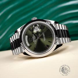 RO22121S Rolex Day-Date 40 White Gold Close10