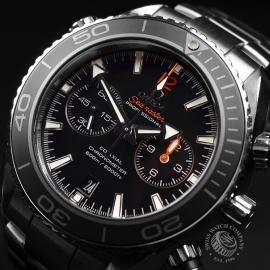 OM21024S Omega Seamaster Planet Ocean 600m Co Axial Chrono Close2