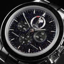 OM22648S Omega Speedmaster Moonphase Chronograph Close10
