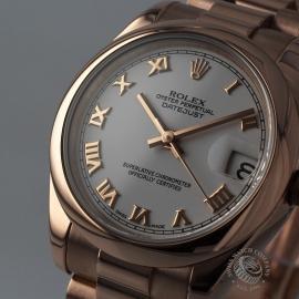 RO1852P Rolex Ladies Datejust 18ct Close1 1