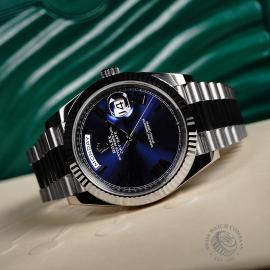 RO22142S Rolex Day-Date 40 White Gold Unworn Close10