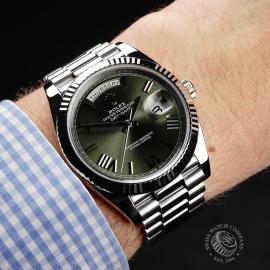 RO22121S Rolex Day-Date 40 White Gold Wrist