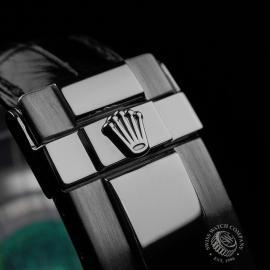 RO20942S Rolex Daytona 18ct White Gold Black Strap Close4 1