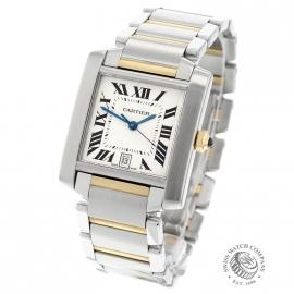 CA21251S Cartier Tank Francaise Large Size Back