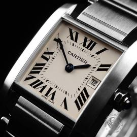 CA21842S Cartier Tank Francaise Midsize Close2