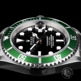 RO1958P Rolex Submariner Green Bezel Close 6
