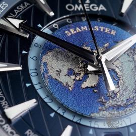 OM22669S Omega Seamaster Aquaterra Worldtime Close5